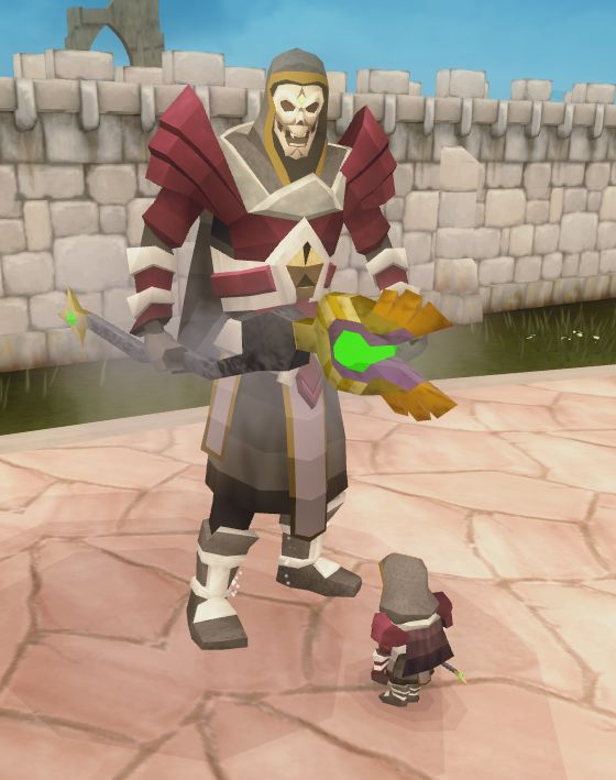 Isn't he adorable? (Thanks to @Mathew9R on Twitter).  #RuneScape