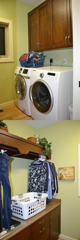 Luandry Room- Our Laundry room is small, but highly functional.