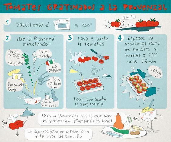 """Platillos"" volantes: Tomates gratinados a la provenzal"