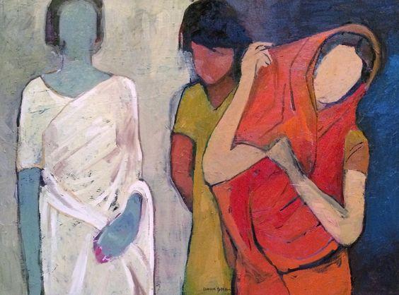 """For Sale: Others by Arun Prem   $500   40""""w x 30""""h   Original Art   http://www.vangoart.co/buy/art/others @VangoArt"""