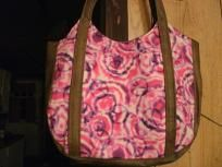FREE SHIPPING! HANDMADE SHOULDER STRAP PURSE: PINK TIE DYE PEACE SIGNS $20