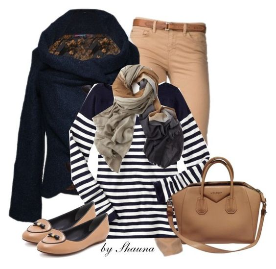 """Blue and Tan"" by shauna-rogers ❤ liked on Polyvore featuring Tommy Hilfiger, Gap, Bajra, Tory Burch and Givenchy"