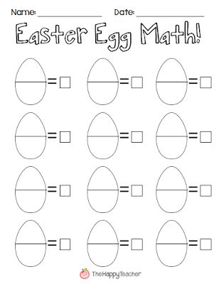The plastics, Eggs and Math worksheets on Pinterest