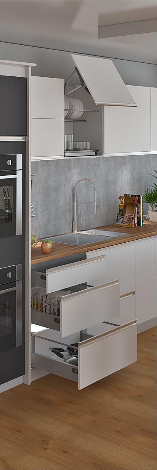 Construye espacios acogedores y muy sofisticados con nuestros herrajes Bonuit que te brindan gran variedad de diseños y tamaños para hacer tu cocina ideal. ¿Cómo es tu cocina ideal? www.madecentro.com