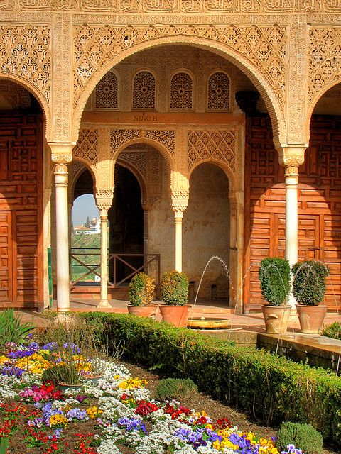 Generalife Gardens at the Alhambra, Granada, Spain .............repin comment ... I'm reading Washington Irving's The Alhambra now. Written in 1832.