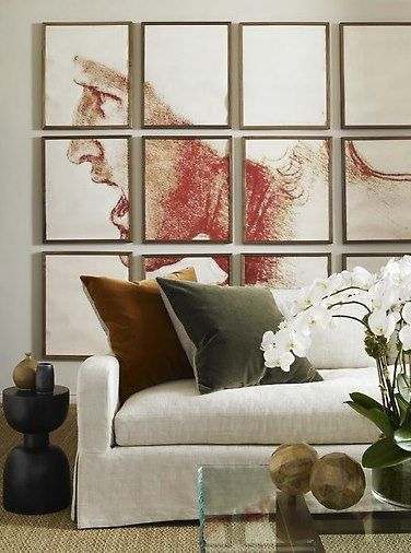 Custom sized art, living large scale! Design into grid and custom frame with minimalist styles.
