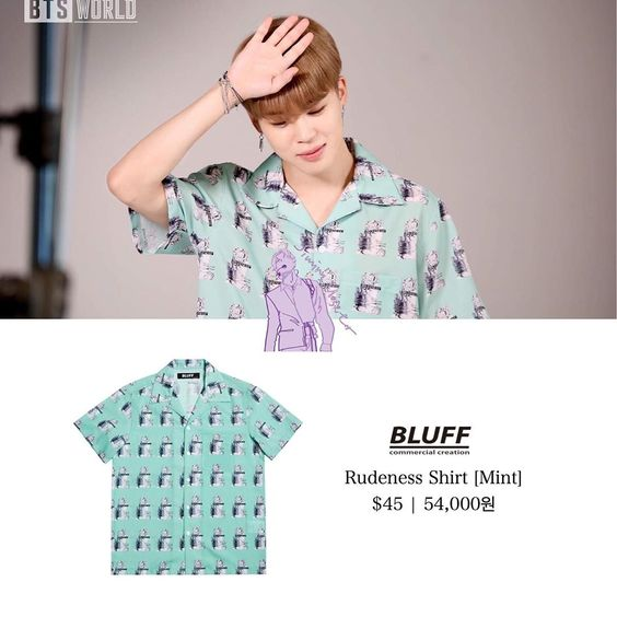 "Jimin's Closet on Instagram: ""200701  BTS WORLD Behind the Scenes Photos ⠀⠀⠀⠀⠀⠀⠀⠀⠀ ⠀⠀⠀⠀⠀⠀⠀⠀⠀ ⠀⠀⠀⠀⠀⠀⠀⠀⠀ ⠀⠀⠀⠀⠀⠀⠀⠀⠀ ⠀⠀⠀⠀⠀ ⠀⠀ — Jimin wears @bluff_official rudeness shirt.…"""