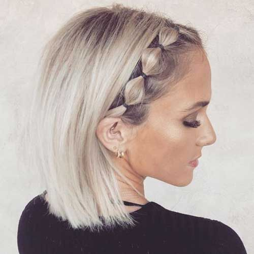 11 Cute Up Bob Hairstyle Short Hair Updo Thick Hair Styles Short Hair Styles Easy