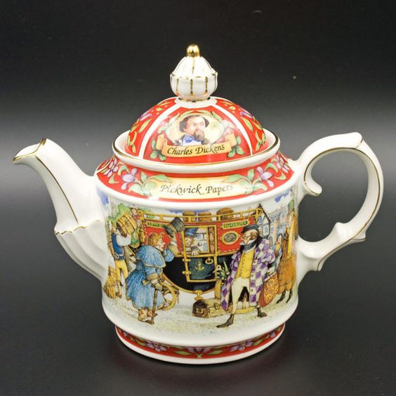 James Sadler Teapot,Vintage  Collectable China,Charles Dickens Teapot