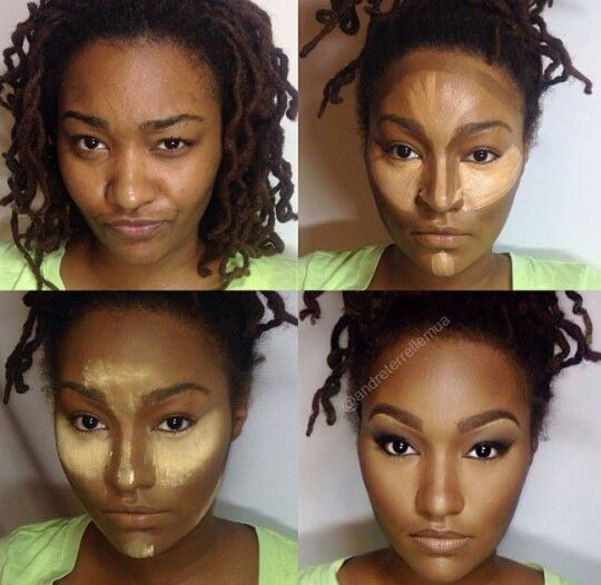 Soft contour on African American woman #Beatface #MUA #Makeup: