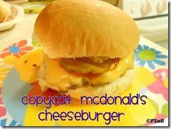 Copycat McDonald's Cheeseburger