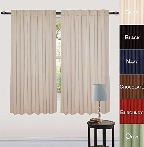Blackout, Room Darkening Curtains Window Panel Drapes - (Beige ...