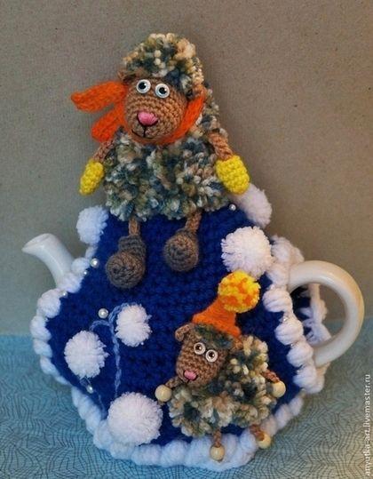 """Кухня ручной работы. Ярмарка Мастеров - ручная работа. Купить Грелка на чайник """"Зимняя овечка"""". Handmade. Грелка на чайник:"""