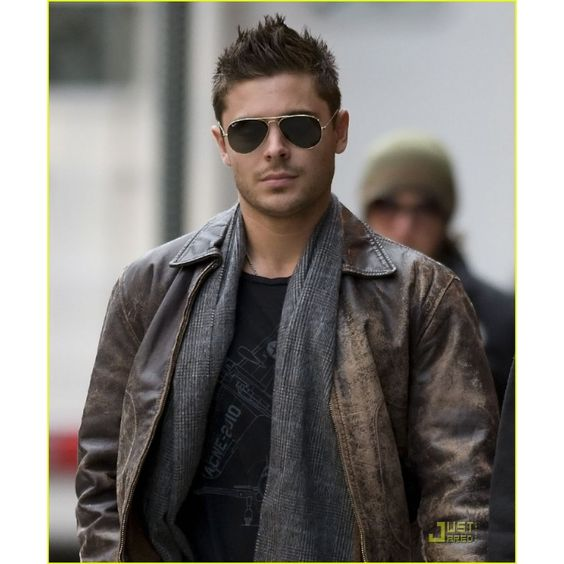 Zac Efron Classic Vintage Celebrity Leather Jacket A classic ...
