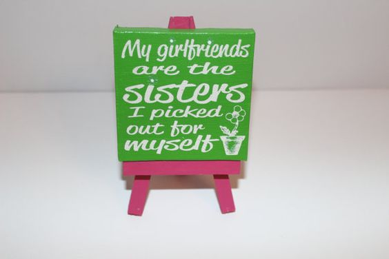 Girlfriends Mini Canvas Art  'Sisters Picked' by SketchPhrase, $15.00