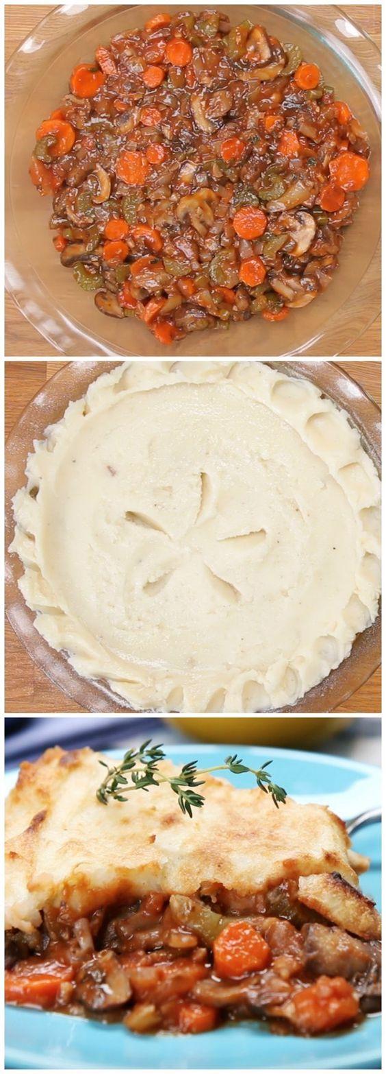 Vegan Shepherd's Pie #vegan #veganshepherdspie