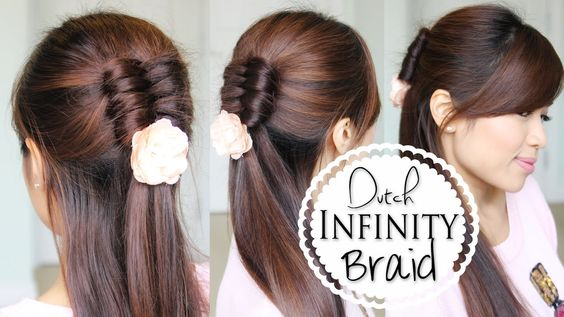 Hey guys, this DIY hair tutorial will show you how to create the Dutch Infinity Braid on yourself. This hairstyle works best on medium to long hair. Thumbs u...