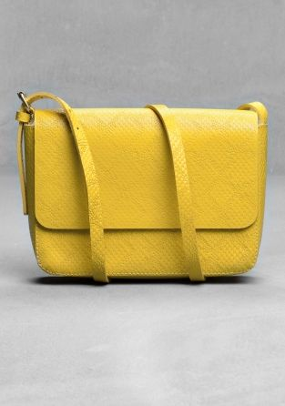 & Other Stories Claire Vivier shoulder bag in canary yellow