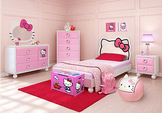 Shop For A Hello Kitty Twin Bedroom At Rooms To Go Kids