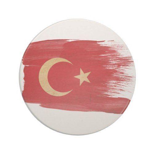 Round Turkish Flag Sticker Decal Vinyl Turkey circle
