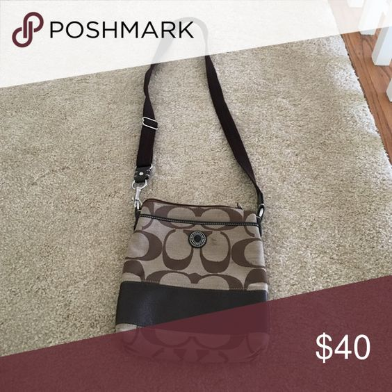 Brown Coach Crossbody Gently used Coach Bags Crossbody Bags