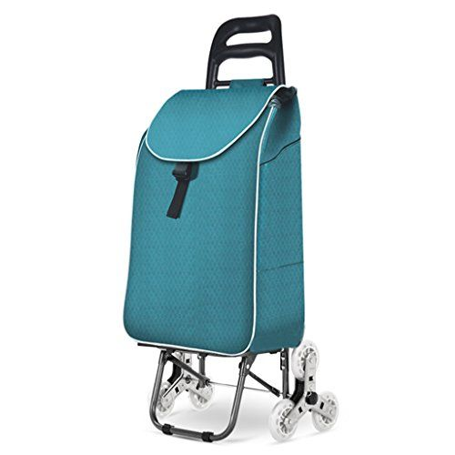 Trolley Shopping Portable Folding Climbing Car,Green