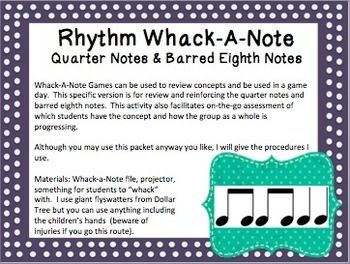 Quarter Notes And Eighth Notes Rhythm Whack-A-...