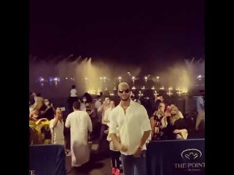 فيديو محمد رمضان يزور النافورا الراقصة في دبي علي انغام يا حبيبي Concert Rare