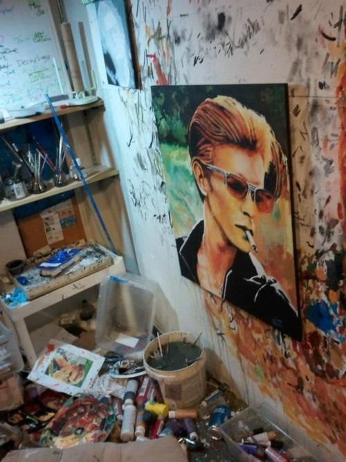 epic David Bowie painting