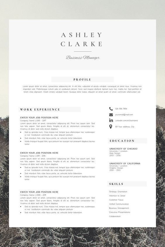 Resume Template Professional Resume Ms Word Resume Modern Etsy Resume Template Professional Downloadable Resume Template Resume Template