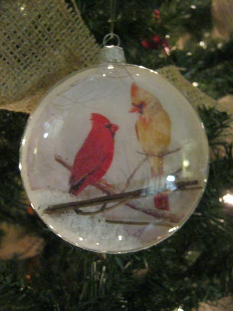 cardinal ornament from Norman's Garden Gallery