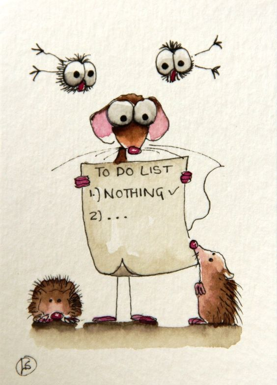 To do list... 1. NOTHING - Lucia Stewart