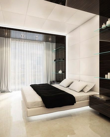 30 Stylish Floating Bed Design Ideas For The Contemporary Home Bed Linens Mattress And Murals