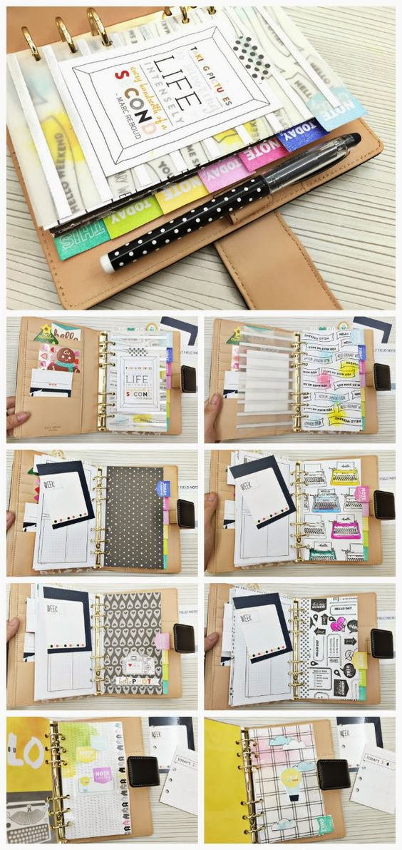 Happiness is Scrappy: Planners   How To Make Your Own Rainbow Divider Tabs