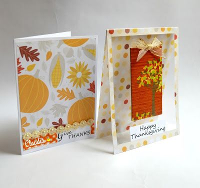 Proyecto no. 6 - Set de tarjetas para Otoño y Thanksgiving - AUTUMN SENTIMENT CARD FRAMES PRINTABLE SET- The Cutting Cafe.