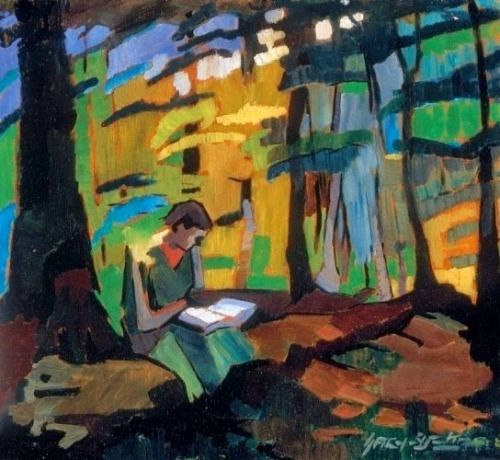 Girl Reading in the Park ~ Oszkar Nagy