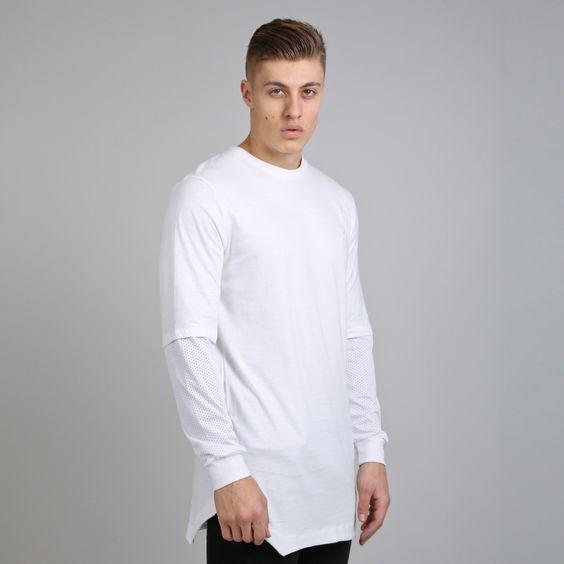 OrangeZone | King Apparel Perf Longsleeved Longline Tee Shirt White