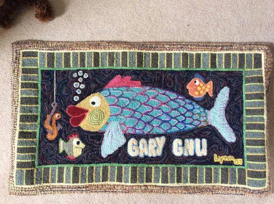 Lynn Goegan's fish rug