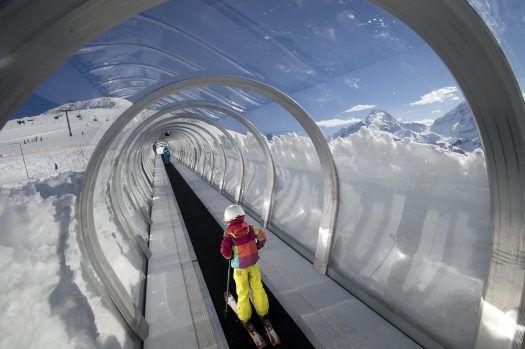 family ski trip skiing