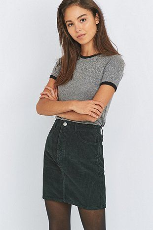 BDG Jumbo Cord Pencil Skirt
