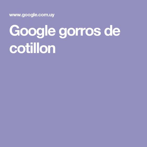 Google gorros de cotillon