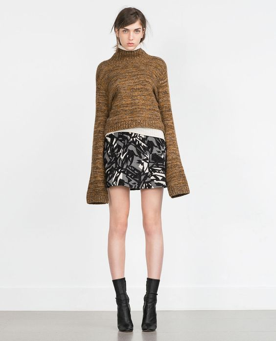 ZARA - WOMAN - PATCHWORK MINI SKIRT