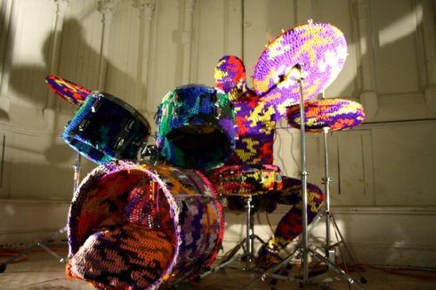Drum by Olek