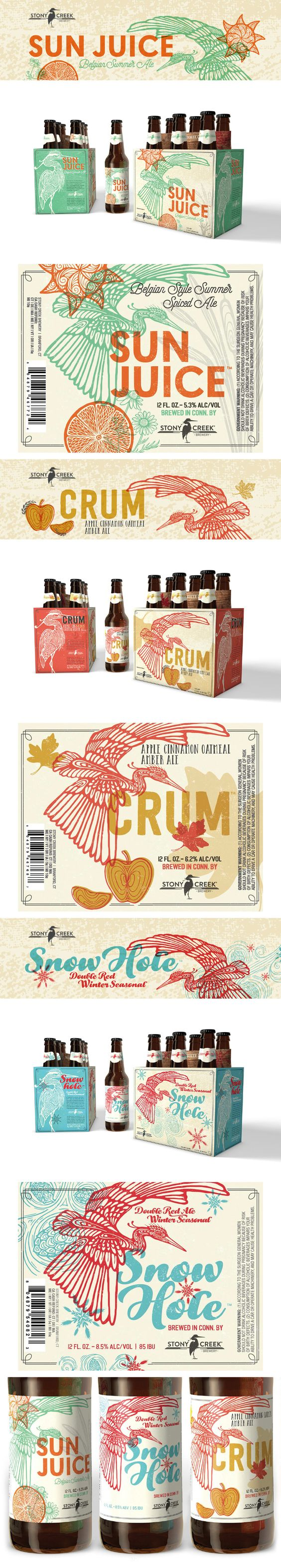 Stony Creek Brewery Seasonal Beer Series Packaging