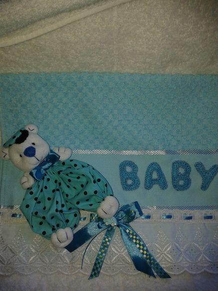 toalhinha de boca com ursinho para bebe