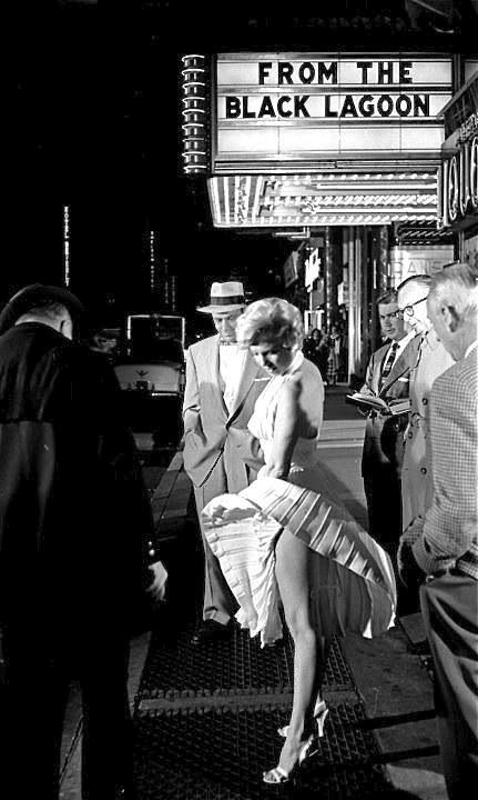 """#Marilyn #Monroe photographed on the set of """"The Seven Year Itch"""", 1954"""