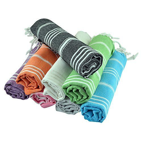 (SET of 8) Turkish Cotton Hand Face Head Guest Gym Towel Set Peshtemal Washcloth Kitchen Tea Towel Dish Cloth Set (MultiColor), http://www.amazon.com/dp/B011J4D8RC/ref=cm_sw_r_pi_awdm_5QayxbPEXD0VM