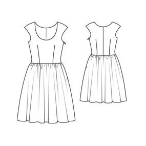 4 rectangle maxi dress pattern upholstery