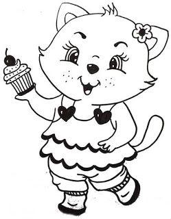 Riscos graciosos (Cute Drawings): Riscos de felinos (gatos, leões, tigres) (Kittens, lions and tigers)