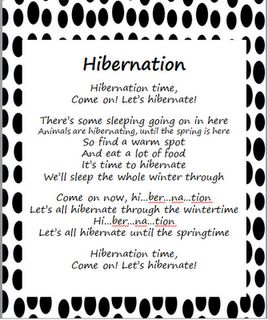 Here's a great song for teaching about hibernation.
